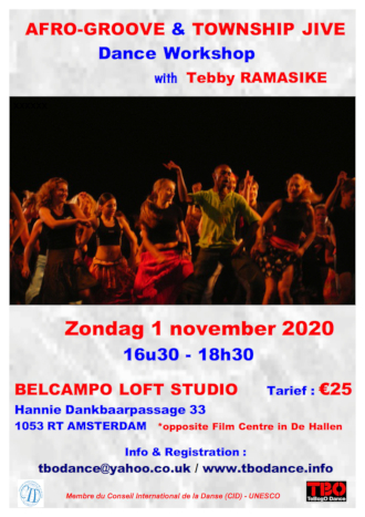 Afro Grove & Township Jive Amsterdam November 2020