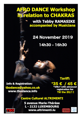 African Dance workshop in Luxembourg