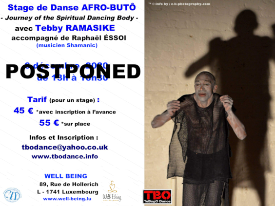Afro Butoh Dance workshop in Luxembourg